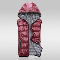 2014 new winter vest men Warm Man's outdoors down jacket Fashion Waistcoat , men vest slim casual waistcoat free shipping