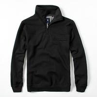 2014 Autumn Men's coat  plus size XXXL long-sleeve solid color pullover fleece sweatshirt outerwear
