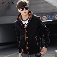 2014 autumn men's teenage sweatshirt outerwear men's clothing casual cardigan baseball uniform slim sportswear