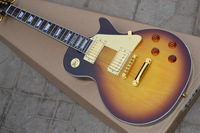 WWhole sale 2013 New Arrival High Quality G Les Standard tobacco+Gold accessories Electric Guitar In Stock Free Shipping