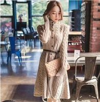 2014  winter long sweater in Korea  Fashion style long sweater coat