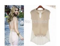 2014 summer new fashion women chiffon blouse shirt