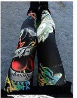 2014 fitness Wholesale Womens Lady Sexy Thin supernova sale Pants Fashion Hot New Love Rose Print Leggings