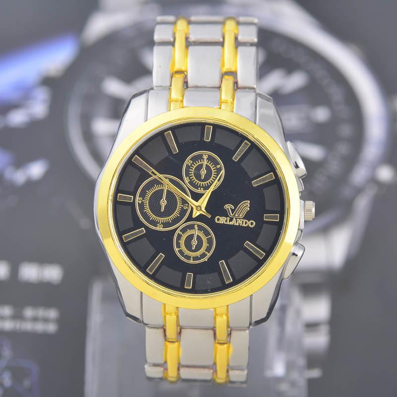 Brand ORLANDO Quartz watches Men Business Watch Three Colors Luxury watches Man full Steel watch Male relogio masculino clock(China (Mainland))