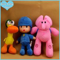 New Promotion POCOYO Cartoon Stuffed Animals & Plush Kiss Baby Toys Hobbies Elly & Pato & POCOYO plush toy With Free Shipping