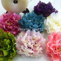 "Fake Peony Flower Head Dia. 18cm/7.08"" Artificial Silk Paeonia 12Pcs for DIY Bridal Bouquet Headdress Hair Accessories"