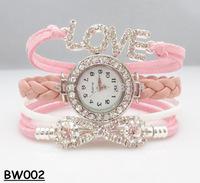 """NEW 2014 Infinity Watch Alloy Bracelet Fashion Bling Bling Jewelry Trendy Bracelets """"Love"""" Charm Rhinestone Watch Hand Wear H110"""