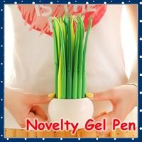 [FORREST SHOP] Korean School Stationery Novelty Green Grass 0.38mm Black Ink Color Cute Gel Pen / Office Kawaii Pens UP-8140