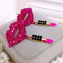Lips Stud Earrings Bijoux Love Wedding Earring For Women Brincos Pequenos Aretes Colares Bijuterias Parfumes Brinco