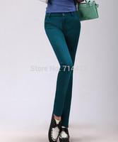 2014 new autumn and winter plus velvet thickening Slim temperament plus velvet warm pants feet pencil pants S-3XL