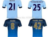 Customize! 14/15 season Toure yaya jersey top quality soccer uniforms Size S-M-L-XL