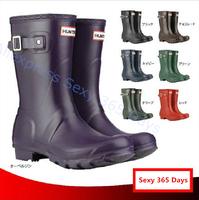 Free Shipping 2014 Women H Brand Fashion women Rainboots Water Platform Winter Autumn Rain boots Waterproof wellies Ankle Shoes