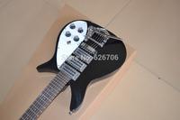 Wholesale Black Rick 325 Model 3 Pickup Bigsby Tremolo Electric Guitar In Stock