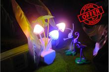 Led mushroom night light,mushroom lamp,EU US plug Energy saving Light Avatar light induction(China (Mainland))