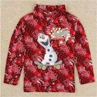 Free Shipping 2014 New Autumn NOVA Cartoon Clothing Boys Frozen T-shirts 100% Cotton Kids Olaf t-shirt Baby frozen Print tshirt