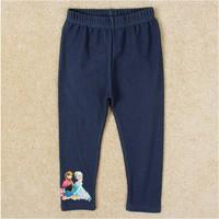 Free shipping 2014 New Arrival Girls Frozen legging frozen leggings long pants Baby Elsa Printed trousers NOVA Cartoon Clothing