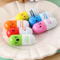 60PCS Cute Smiling Face Pill Ball Point Pen Pencils Telescopic Vitamin Capsule Ballpen for School Use