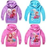 2014 New Winter Thickening Warm Children Outerwear kids Jacket Coats Frozen Children Hoodies Girls Clothing Elsa Anna Costume