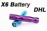 DHL Electronic Cigarette X6 Battery Charger Rechargeable E Cig 1300mAh 3.6v/3.8v/4.2v Variable Voltage EGO EVOD Protank Atomizer