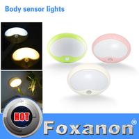 Foxanon Brand Dreamy Night light Motion Sensor NightLight PIR Intelligent LED Human Body Motion Induction White/Warm White Lamp