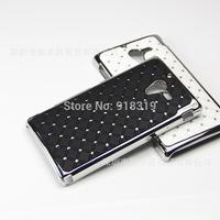 L35H Case MOQ:1PCS Stock Bling Silver Case Rhinestone Diamond Case For Sony-Ericsson Xperia ZL / ZQ L35H C6503 C6502 C6506 Case