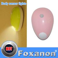 Foxanon Brand Smart Double Sensor Night light Motion Sensor NightLight PIR Intelligent LED Human Body Motion Induction Lamp