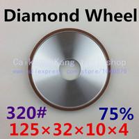 320# .Parallel resin diamond grinding wheel, Grinding wheel, diamond grinding wheel . 125*32*10*4 . 320#