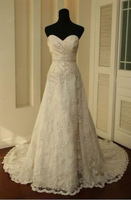 New Sweetheart Lace A-line Wedding Dress Bridal Gown Size2 4 6 8 10 12 14 16 18+