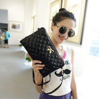 2014 new women Envelope Clutch shoulder diagonal fashion handbags with three butterflies Spiraea Quilted bag Free shipping