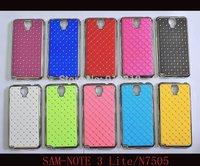 N750 N7505 Case MOQ:1PCS Stock Bling Silver Case Rhinestone Diamond Case For Samsung Galaxy Note 3 Neo N750 N7505 Case
