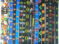 100pcs DHL Free shipping superman/Batman/spider-man/monster/ The Hunger Games key lanyard neck strap ID phone strap for kids