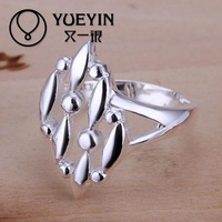 R120 925 Silver plated new design finger ring for lady