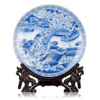 Ceramics pastels, blue and white porcelain hanging plate decoration plate fashion home decoration crafts