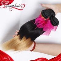 LQ Beauty Hair 1B/27 Two Tone Color Malaysian Virgin Hair Bundles Ombre Hair Extensions,4PCS Lot Malaysian Straight Hair Weaves