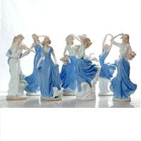 Modern ceramic female fashion crafts home furnishings decoration