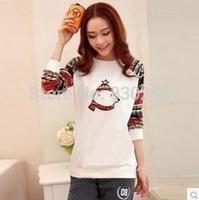 2014 autumn women's clothes top casual fashion sportswear shirt basic sweatshirt t-shirt hoodies hoody coat women