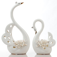Ceramic lovers swan wedding gift decoration home decoration gift
