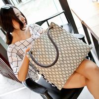 2014 women's handbag fashion knitted handbag fashion shoulder bag women's bag big bag