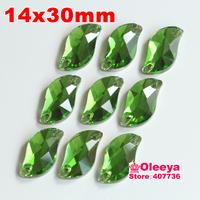 72pcs 14*30 mm S shape Sew-on Stone Olive Beauty Fish Sew On Rhinestones for bride dress making