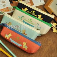 Free shipping! Kawaii cartoon horse design Pencil bag,handmade canvas pencil bag,wholesale price(tt-960)