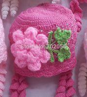 2014 Handmade crochet beanie baby girls hat tamhat cap barret knit hat Skullies 22pcs/lot MIXED COLOR STYLE #3703