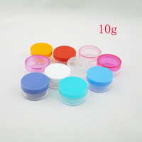 10g colored PS cream sample bottles containers jars ,1/3 OZ Mini  plastic bottles ,10cc container for  cosmetic packaging