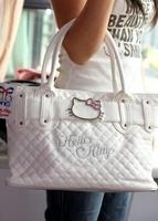 2014 Hot sale new Hello Kitty bags Classic Tote Bag Purse Handbags black white fashion lady handbags women bag