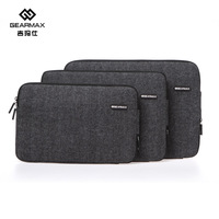 2014 Gearmax Laptop Bags Black Felt For Macbook Air 11 13 Inch Laptop Sleeve For Macbook Case Notebook Free Shipping