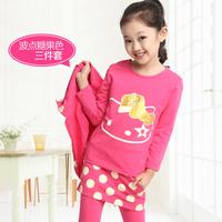 Children's clothing female child autumn 2014 child long-sleeve sweatshirt piece set kids clothes child women's set