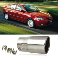 Hot Sale 1pcs Stainless Steel Exhaust Muffler Tail Pipe Tip For MAZDA 3 Chrome