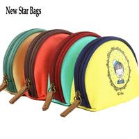Korea style cute semicircle canvas purse Cartoon Cloth lady purse girl coin bag.TS6A