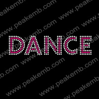 50Pcs/Lot Free Shipping Dance Bling Rhinestone Heat Transfers Designs For T-shirts And Dresses Wholesale