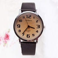 2014 Watches New Hardlex Alloy Analog Arrival Women Watch Big Number Leather Strap Watches Quartz Hot Selling Free Shipping