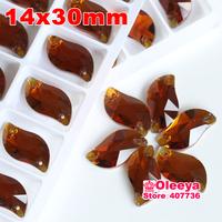 72pcs 14*30 mm S shape Sew-on Stone Wine Red Beauty Fish Sew On Rhinestones for bride dress making